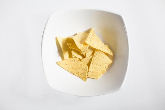 One serving of plain tortilla chips (30g)
