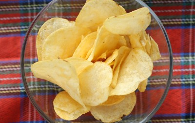 Packet of cheese and onion crisps (32.5g)