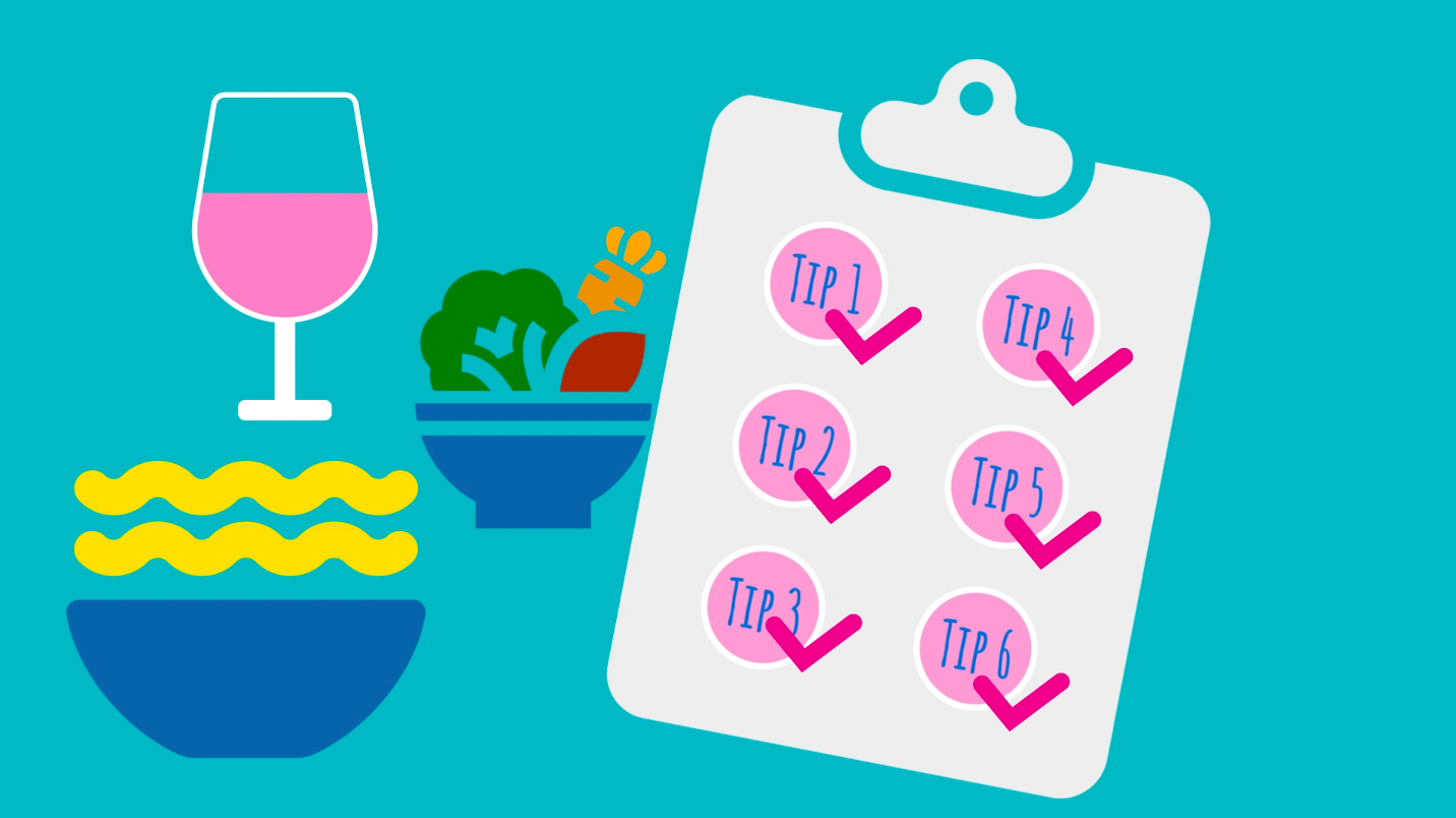 Six tips to help when eating and drinking out